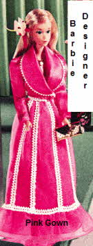 Barbie Designer Pink Gown From the 1970s
