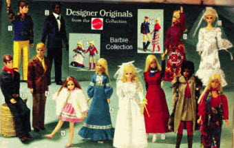 1970's Vintage Barbie Doll Collection Designer Originals