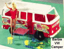 1970's Barbie VW Camper with accessories