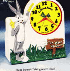 1970s Bugs Bunny Talking Alarm Clock
