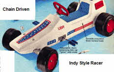 Pedal Chain Driven Indy Racing Car from the 70's