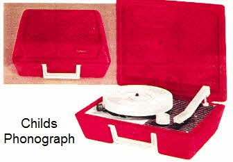 Childrens Phonograph in Red  From the 70's