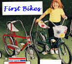 Boys and Girls First Bikes With Training Wheels 1973