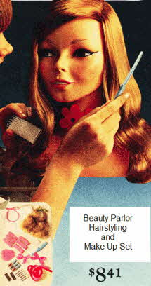 70's Beauty Parlor Hairstyling and Make Up Set