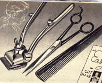 Home Hair Cutting Kit includes Clippers, Shears and Barbers Comb