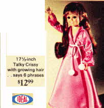 Talky Crissy Doll with growing hair from the 1970's