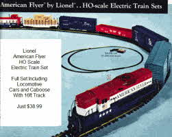 1970's Lionel American Flyer  Electric Train Set