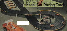 Vintage Aurora 4 car model racing track