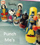 Punch Me's including Frankestien Monster Squad, Snoopy as Joe Cool, Welcome Back Kotter, King Kong and Batman 1977