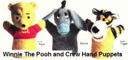 Winnie the Pooh and Crew Hand Puppets From the 1970s