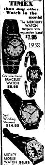1958 Timex Watch Ad