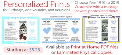 Personalized Prints are great gifts or party favors for special occasions like birthdays, anniversaries, retirements, work anniversaries, or reunions