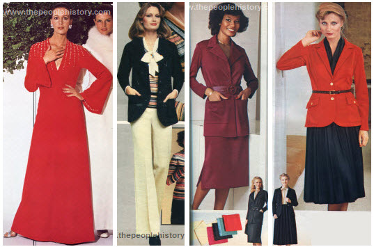 Seventies Ladies Dresses Example