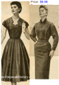 Super Slimline Waist Ladies Dresses From The 50s