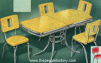 Plastic Covered Kitchen Table and Chairs