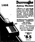 1936 Burroughs Adding Machine