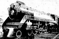 14th June 1939 The new Generation of Railway Engine from Canadian Pacific which carried King George and Queen Elizabeth from Quebec to Vancouver ( total of 3000 miles ) trouble free
