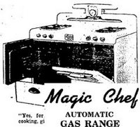 1949 magic chef automatic gas cooker