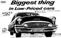 15th June  1955 The Buick Sedan 2 door 6 passenger 188HP V8 Prestige, Comfort and Quality for $2387.35