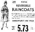 April 17th 1962 Ladies and Miss Poplin Reversible Raincoats $5.73 Massachusetts