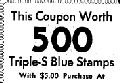 April 17th 1962 All over newspapers were adds with coupons for triple blue or green stamps or as this one for 500 bonus stamps with special purchase Massachusetts