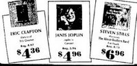 1972 The latest LP's from Janis Joplin and Eric Clapton from $4.96