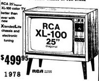 1978 color TV 25inch
