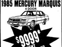 15th June 1985 Mercury Marquis $9999.00