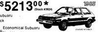 1985 Subaru Hatchback $5213.00