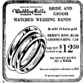 3rd June  1959 Wedding ring set for $12.50