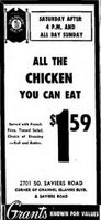 1971 Chicken dinners for $1.59