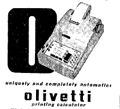 olivetti calculator with printer the latest in office equipment