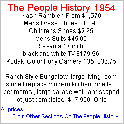 What Happened In 1954 Inc Pop Culture Prices And Events