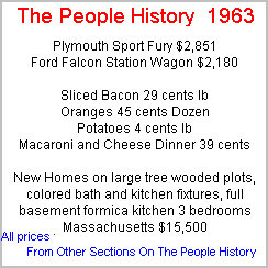 More Prices From 1963 Taken From Cars, Food, Clothes, Homes, Elecrical Sections Of The People History