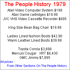 More Prices From 1979 Taken From Cars, Food, Clothes, Homes, Elecrical Sections Of The People History